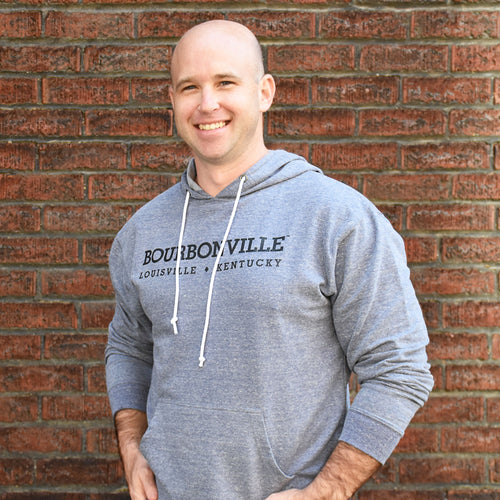 Adult Hooded Sweatshirt - Denim Heather