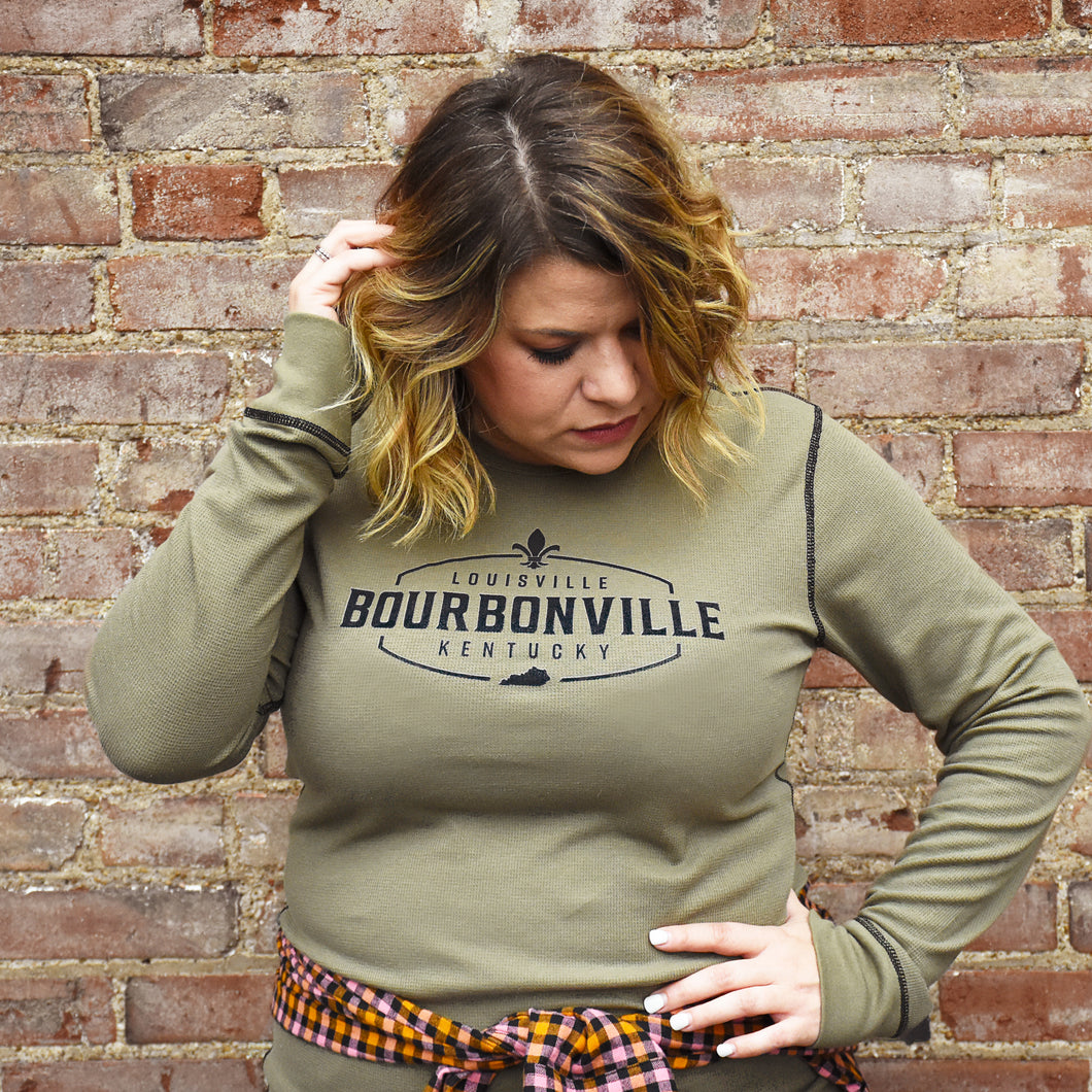Long Sleeve Thermal Shirt Unisex - Olive