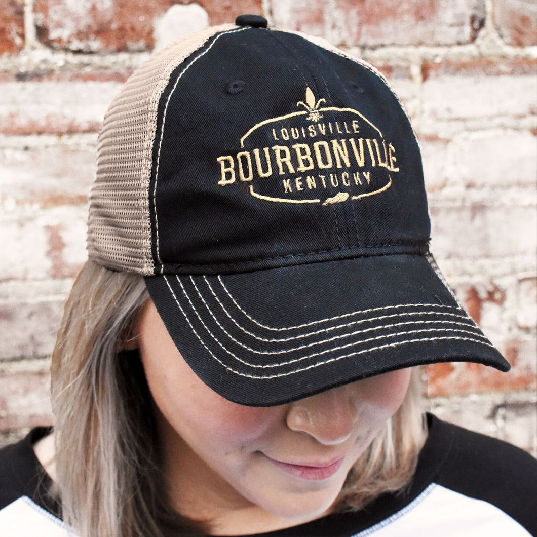Bourbonville Hat - Black & Khaki