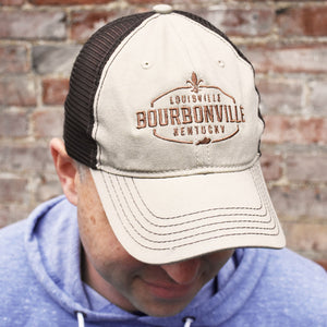 Bourbonville Hat - Khaki & Brown