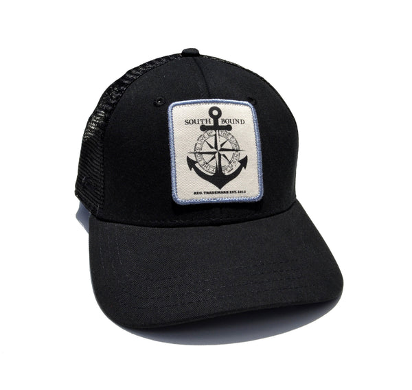 Black Captains Hat - www.southboundapparel.com