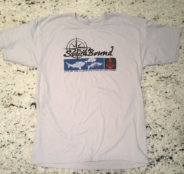 Snapper Logo Front Print - Silver - www.southboundapparel.com