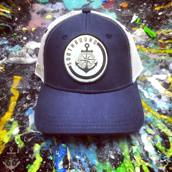 Circle Patch Navy - www.southboundapparel.com