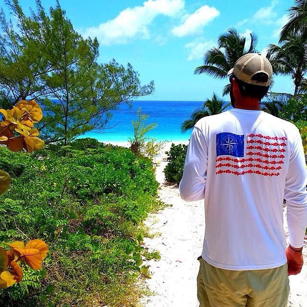 American Snapper Flag Performance Shirt