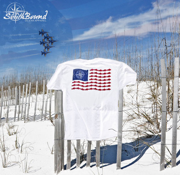 American Red Snapper Flag - www.southboundapparel.com