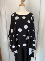 Load image into Gallery viewer, Reversible Black & White Dot Poncho