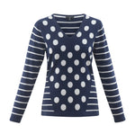 Load image into Gallery viewer, Dot Stripe Combo Sweater