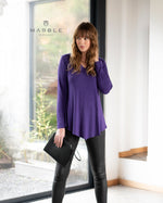 Load image into Gallery viewer, MARBLE Shimmer Asymmetrical Hem Tunic