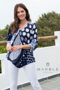 Play on Dots Tunic in Navy