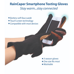 Load image into Gallery viewer, Black & Neutrals Texting Gloves