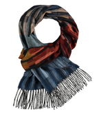 Load image into Gallery viewer, Linear Ombre Woven Cashmink Scarf