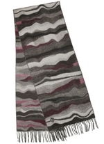 Load image into Gallery viewer, Graphic Waves Woven Cashmink Scarf