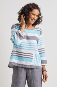 HABITAT Palm Beach Stripe Double Cloth Pullover