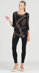 Load image into Gallery viewer, CLARA SUNWOO Geo Print Side Vent Tunic
