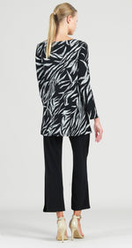Load image into Gallery viewer, CLARA SUNWOO Color Block Leaf Sketch Print Tunic