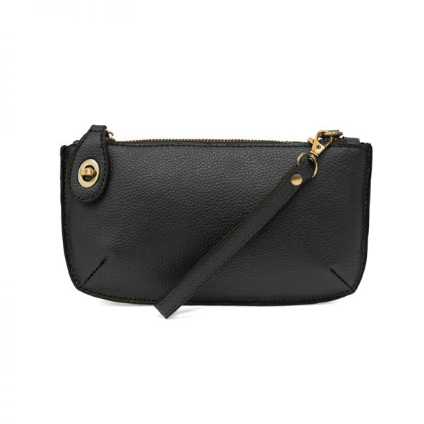 Mini Crossbody Wristlet Clutch in Black