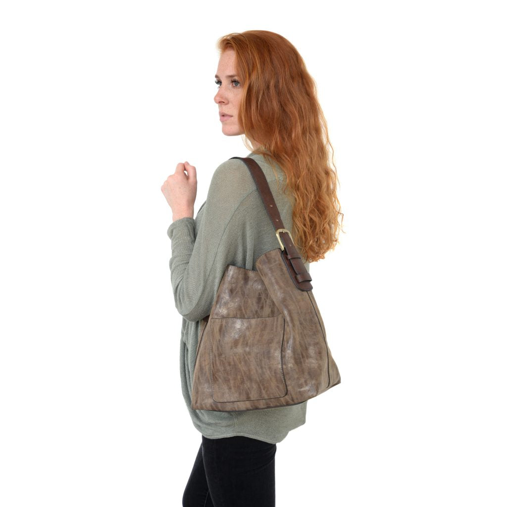 Lux Hobo Handbag in Chocolate