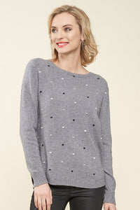 PARKHURST Sidney Tiny Dots Pullover Sweater