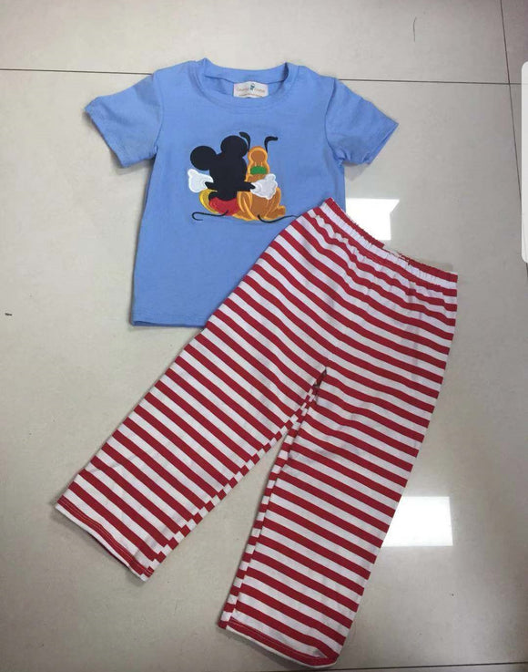 Mickey and Pluto Pant Set