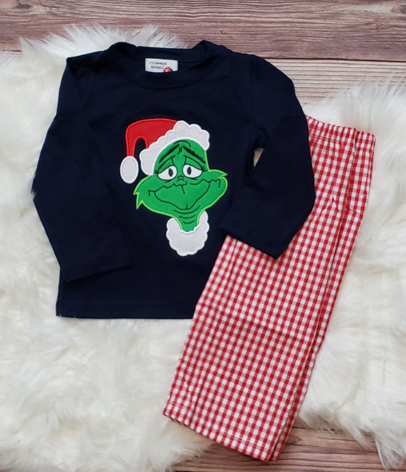 Grinch Applique Set Boy