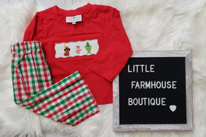 Smock Grinch Set Boy