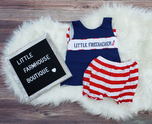 RTS Smock Little Firecracker Set Girl
