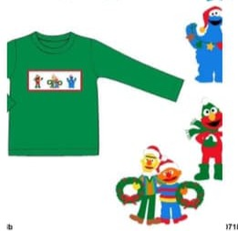 Smock Holiday Sesame Street Shirt ETA November