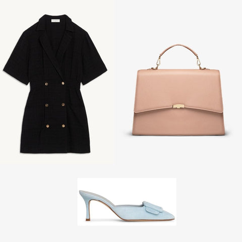 Classic french business women outfit with by banoo bag