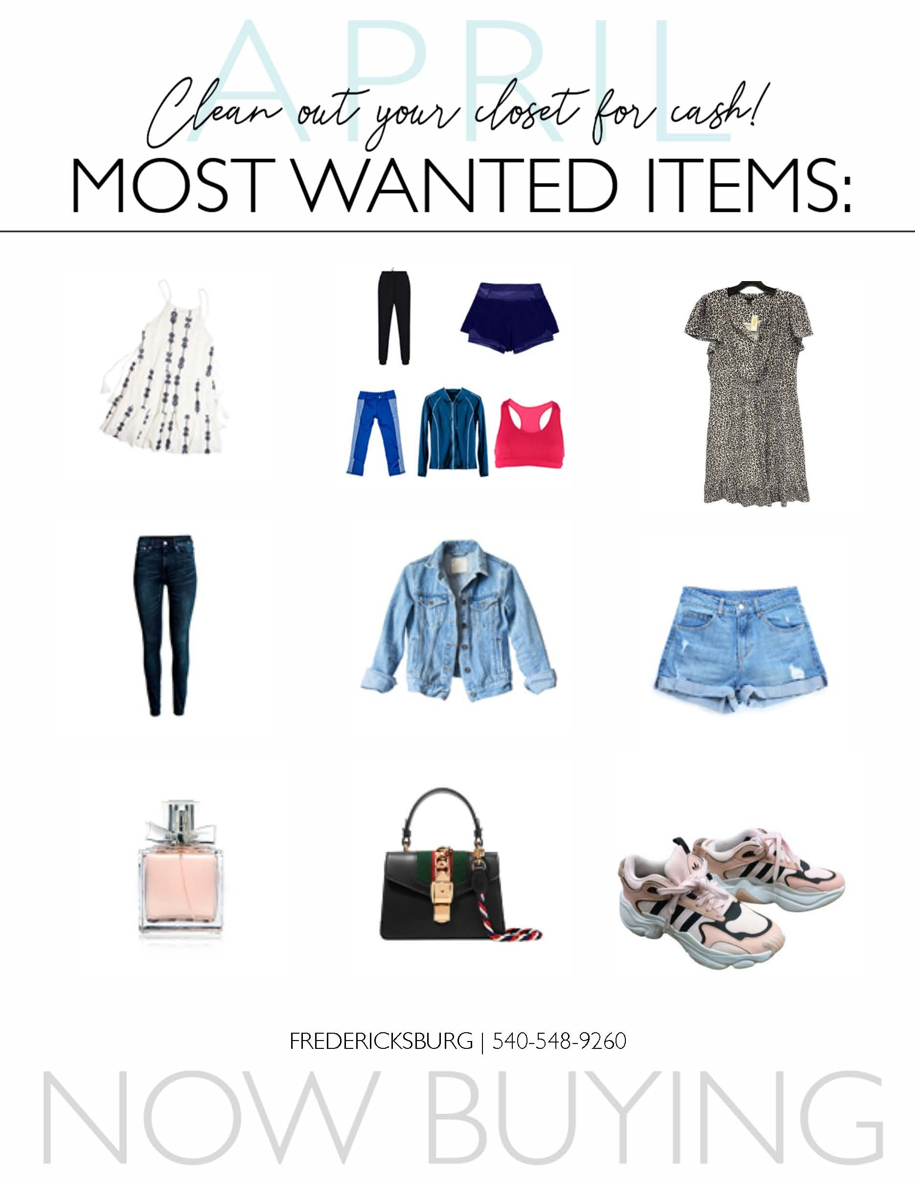 Clothes Mentor April most wanted