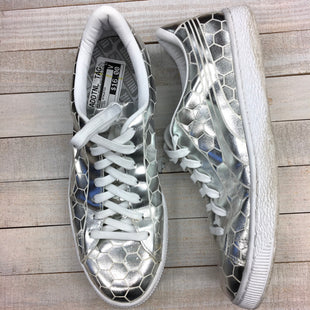 Primary Photo - BRAND: PUMA STYLE: SHOES ATHLETIC COLOR: SILVER SIZE: 9 SKU: 205-205299-8077