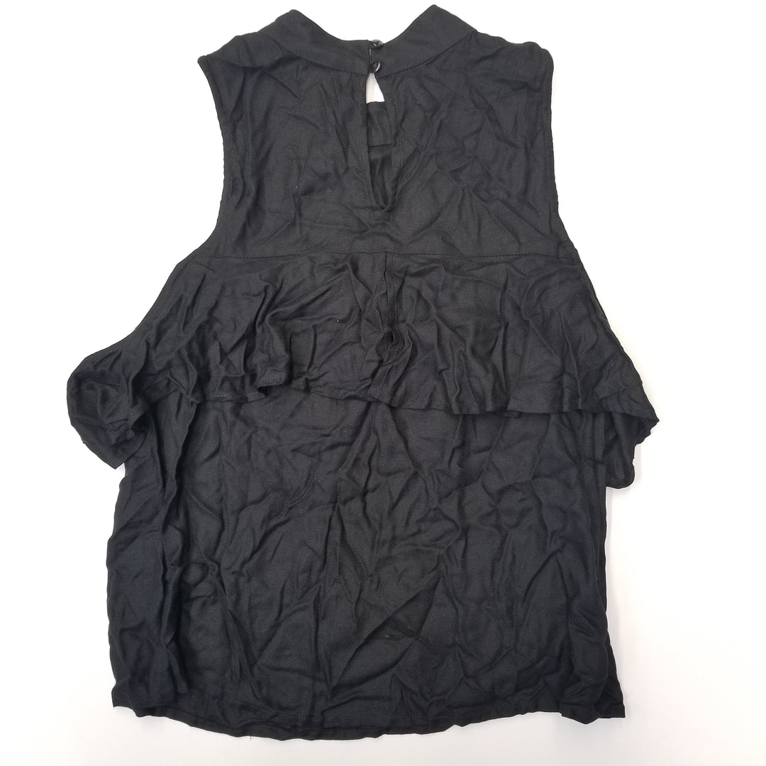 Photo #1 - BRAND: MUDPIE<BR>STYLE: TOP SHORT SLEEVE<BR>COLOR: BLACK<BR>SIZE: M<BR>SKU: 205-205280-18555