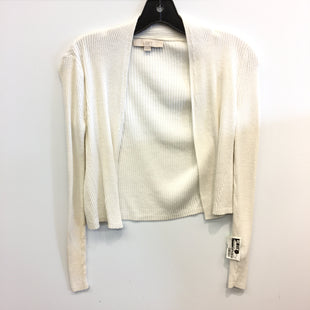Primary Photo - BRAND: ANN TAYLOR LOFT STYLE: SWEATER CARDIGAN LIGHTWEIGHT COLOR: WHITE SIZE: XS SKU: 205-205250-77590