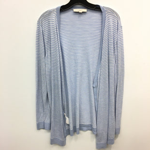 Primary Photo - BRAND: ANN TAYLOR LOFT STYLE: SWEATER CARDIGAN LIGHTWEIGHT COLOR: BLUE WHITE SIZE: XL SKU: 205-205330-82