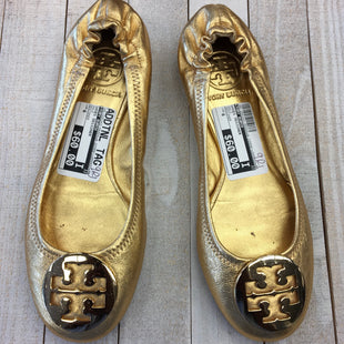 Primary Photo - BRAND: TORY BURCH STYLE: SHOES DESIGNER COLOR: GOLD SIZE: 6 OTHER INFO: DESIGNER SKU: 205-205250-65004