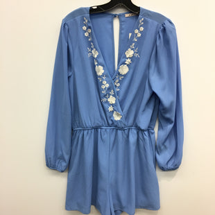 Primary Photo - BRAND: FRANCESCA'S STYLE: DRESS SHORT LONG SLEEVE COLOR: BLUE SIZE: L OTHER INFO: MI AMI ROMPER SKU: 205-205318-4130
