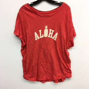 Primary Photo - BRAND: OLD NAVY STYLE: TOP SHORT SLEEVE COLOR: RED SIZE: 2X SKU: 205-205318-3382