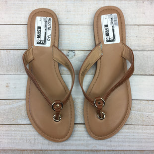 Primary Photo - BRAND: NEW YORK AND CO STYLE: SANDALS FLAT COLOR: BROWN SIZE: 9 SKU: 205-205299-14553
