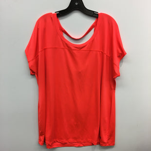 Primary Photo - BRAND: LIVI ACTIVE STYLE: ATHLETIC TOP SHORT SLEEVE COLOR: ORANGE SIZE: 2X SKU: 205-205250-64316