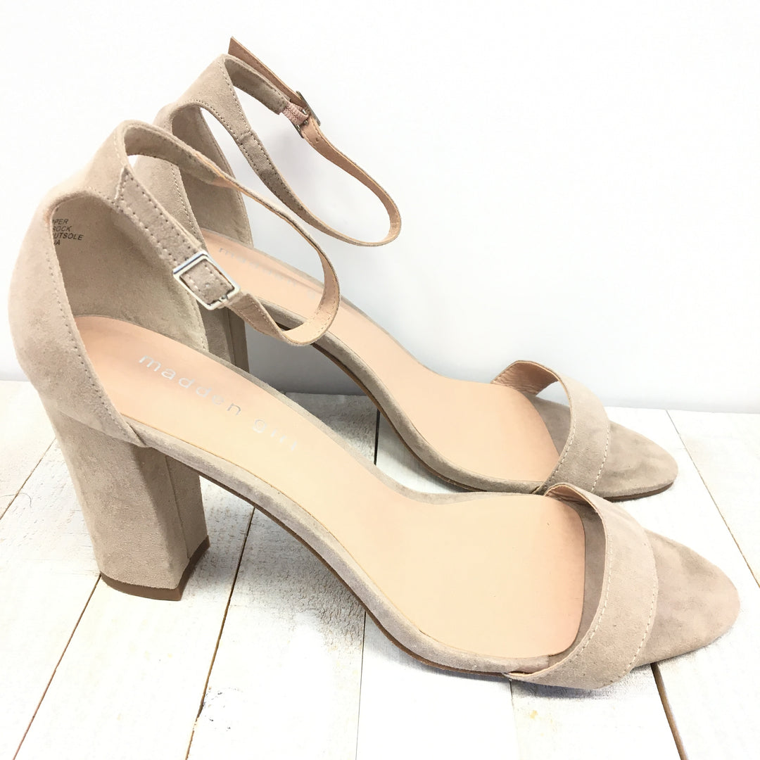 Photo #1 - BRAND: MADDEN GIRL <BR>STYLE: SANDALS HIGH <BR>COLOR: TAN <BR>SIZE: 11 <BR>SKU: 205-205280-16690