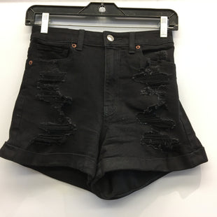 Primary Photo - BRAND: AMERICAN EAGLE STYLE: SHORTSCOLOR: BLACK DENIM SIZE: 4 OTHER INFO: MOM SHORT SKU: 205-205250-78478