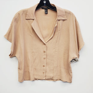 Primary Photo - BRAND: FOREVER 21 STYLE: TOP SHORT SLEEVE COLOR: BROWN SIZE: S SKU: 205-205318-2558