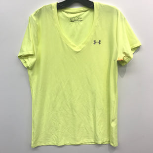 Primary Photo - BRAND: UNDER ARMOUR STYLE: ATHLETIC TOP SHORT SLEEVE COLOR: NEON SIZE: L SKU: 205-205250-74235