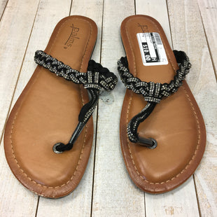 Primary Photo - BRAND:    CLOTHES MENTOR STYLE: SANDALS FLAT COLOR: BLACK SIZE: 8 OTHER INFO: PALMS - SKU: 205-205250-63812