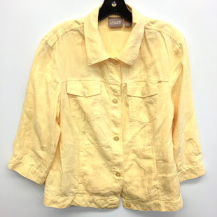 Primary Photo - BRAND: CHICOS STYLE: JACKET OUTDOOR COLOR: YELLOW SIZE: L SKU: 205-205299-13159