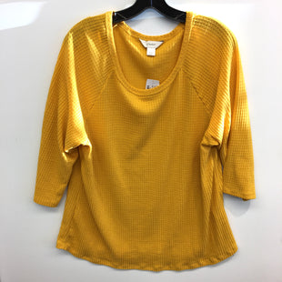 Primary Photo - BRAND: CJ BANKS STYLE: TOP LONG SLEEVE BASIC COLOR: YELLOW SIZE: 1X SKU: 205-205250-72870
