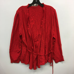 Primary Photo - BRAND: LOFT STYLE: TOP LONG SLEEVE COLOR: RED SIZE: 2X SKU: 205-205318-3190
