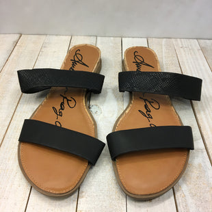 Primary Photo - BRAND: AMERICAN RAG STYLE: SANDALS FLAT COLOR: BLACK SIZE: 9 SKU: 205-205299-15046
