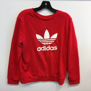 Primary Photo - BRAND: ADIDAS STYLE: SWEATER LIGHTWEIGHT COLOR: RED WHITE SIZE: L SKU: 205-205250-75657