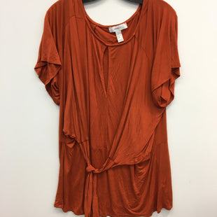 Primary Photo - BRAND: FOREVER 21 STYLE: TOP SHORT SLEEVE COLOR: ORANGE SIZE: 2X SKU: 205-205299-17084