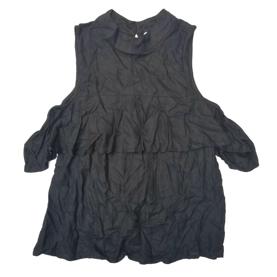 Primary Photo - BRAND: MUDPIE<BR>STYLE: TOP SHORT SLEEVE<BR>COLOR: BLACK<BR>SIZE: M<BR>SKU: 205-205280-18555